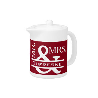 Personalized Mr & Mrs Red