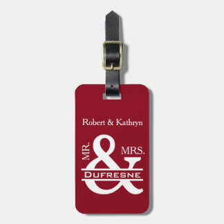 Personalized Mr & Mrs Red Luggage Tag