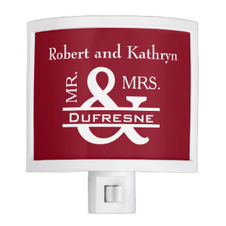Personalized Mr & Mrs Red Nite Lite