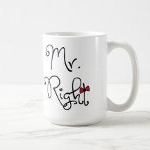 Personalized Mr. Right Mug