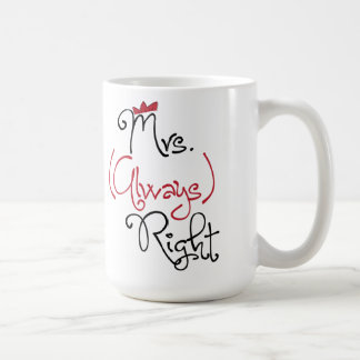 Personalized Mrs. Always Right Mug