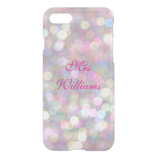 Personalized Mrs Colourful Lights iPhone 7 Case