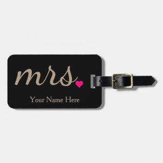 Personalized Mrs. Wife Bride Newly Weds Luggage Tag