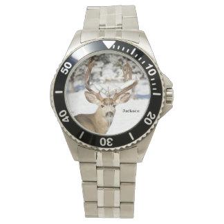 Personalized Mule Deer Buck Watch