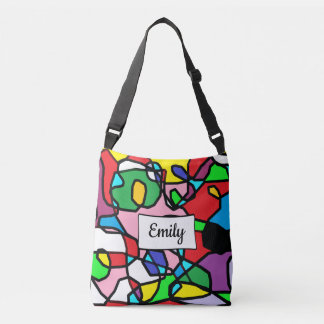 Personalized Multi Colored Abstract Cross Body Bag