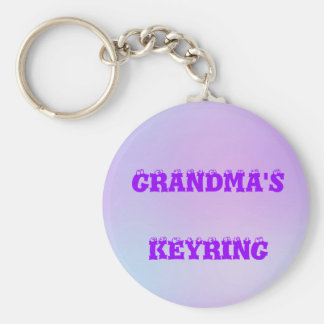 Personalized Multi Tone Keychain