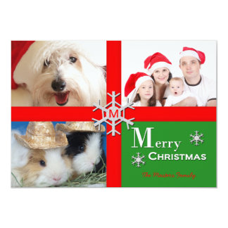 Personalized Multiple Photo Christmas Flat Card