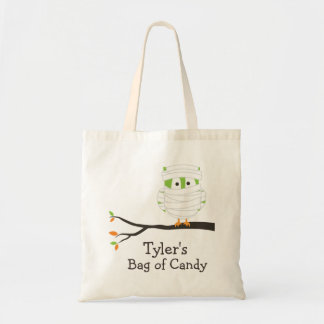 Personalized Mummy Halloween Candy Tote Bag