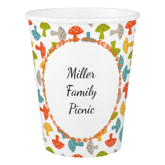 Personalized Mushrooms Toadstools Paper Cup