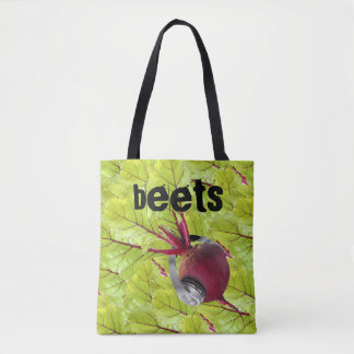 Personalized music beats tote bag