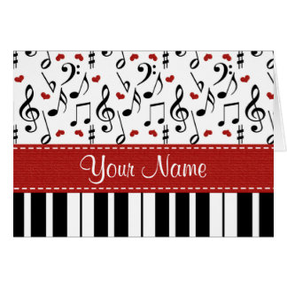 Personalized Music Note Piano Note Cards