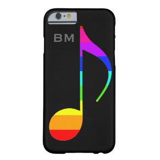 personalized music_note rainbow-colors barely there iPhone 6 case