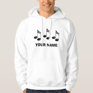 Personalized Music Notes Hoodie