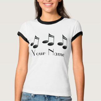 Personalized Music Notes Tee Shirt