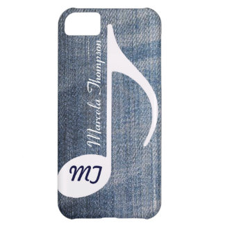 personalized musical note distressed jeans iPhone 5C cover