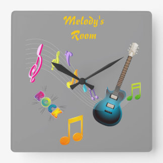 Personalized Musical Notes & Guitar Clock