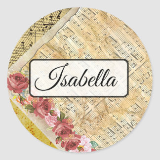 Personalized Musical Notes Name Stickers