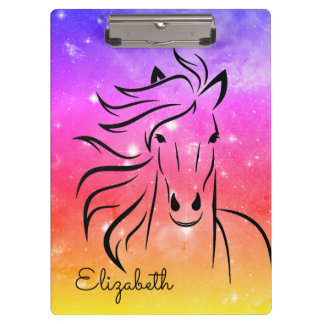 Personalized Mustang Starry Night Clipboards