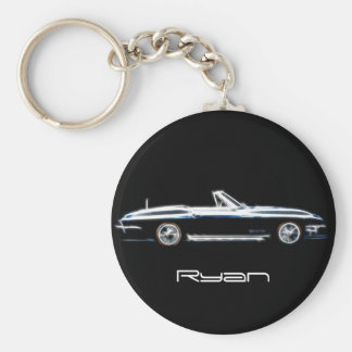 Personalized name 1965 Chevrolet Corvette Stingray Keychain