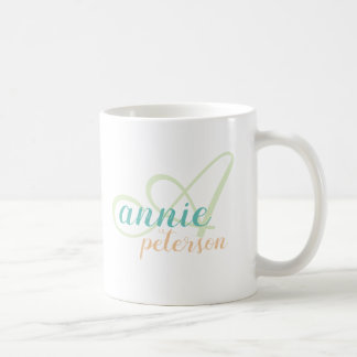personalized name . A letter monogram on white Coffee Mug