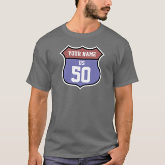 Personalized Name and Number Highway 50 T-Shirt