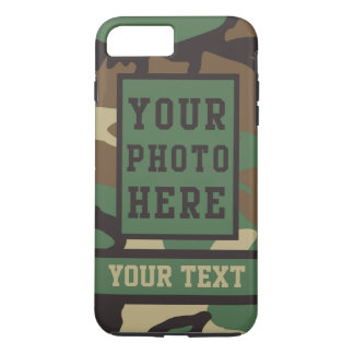 Personalized Name and Photo Camouflage Pattern iPhone 8 Plus/7 Plus Case