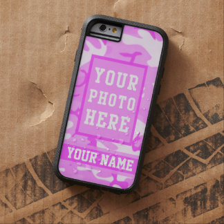 Personalized Name and Photo Cute Pink Camouflage Tough Xtreme iPhone 6 Case