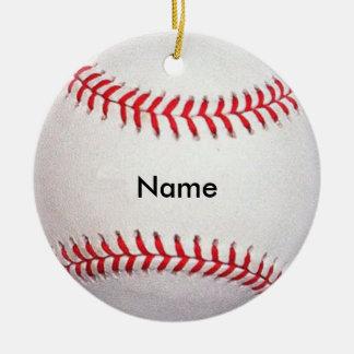 Personalized Name Baseball Christmas Ornament