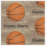 Personalized Name Basketball Orange/Brown Fabric
