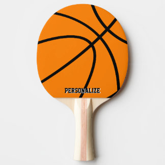 Personalized name basketball ping pong paddle