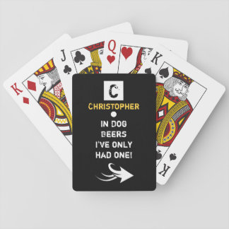 Personalized name beer drinker playing cards