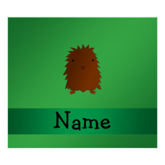 Personalized name bigfoot - sasquatch green posters