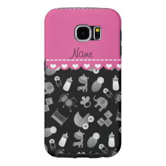 Personalized name black baby animals samsung galaxy s6 cases