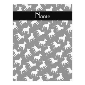 Personalized name black bull terrier dogs flyer design