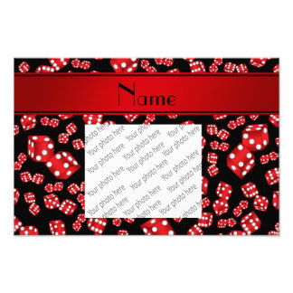 Personalized name black dice pattern photo