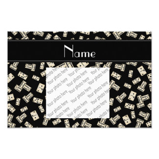 Personalized name black dominos art photo