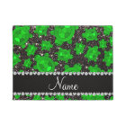 Personalized name black glitter sea turtles doormat