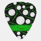Personalized name black golf balls tees guitar pick