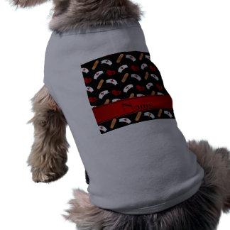 Personalized name black nurse pattern pet shirt