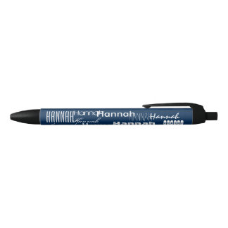 Personalized Name Blue Black Ink Pen