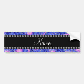Personalized name Blue roses Bumper Stickers