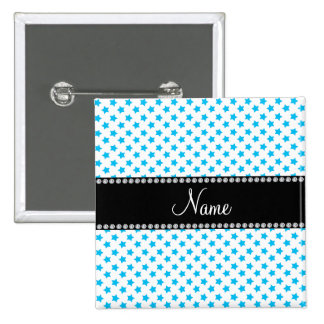 Personalized name Blue stars Buttons