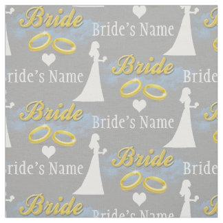 Personalized Name Bride Bridal Shower Wedding Fabric