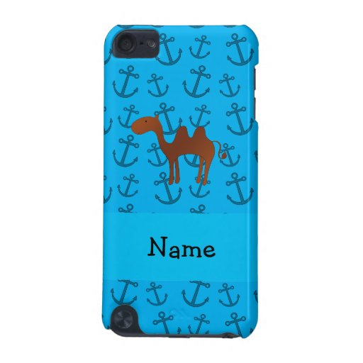 Personalized name camel blue anchors pattern iPod touch (5th generation) covers