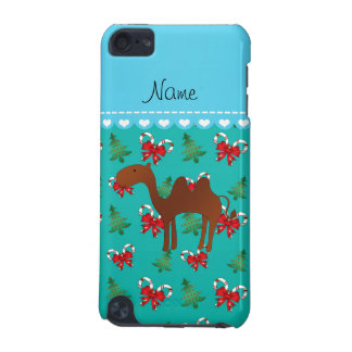 Personalized name camel green candy canes bows iPod touch 5G case