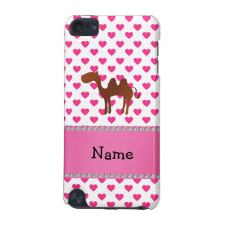 Personalized name camel pink hearts polka dots iPod touch (5th generation) cover