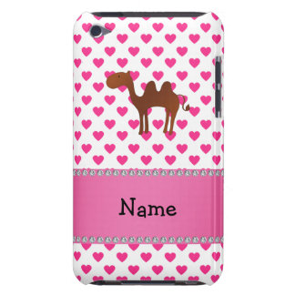 Personalized name camel pink hearts polka dots iPod touch Case-Mate case