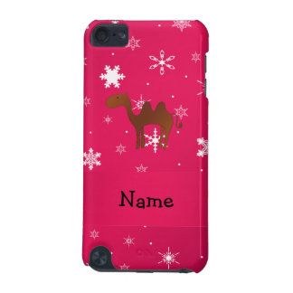Personalized name camel pink snowflakes iPod touch (5th generation) covers