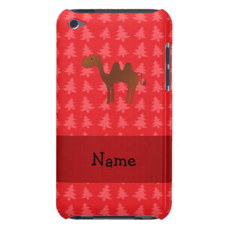Personalized name camel red christmas trees Case-Mate iPod touch case