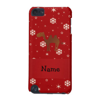 Personalized name camel red snowflakes iPod touch (5th generation) covers